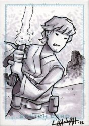 Luke Skywalker Sketchcard by stratosmacca