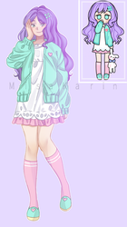 Pastel girl - Grape chan once again~ by MisaKarin