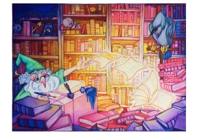 Wizard's Library by Inprismed