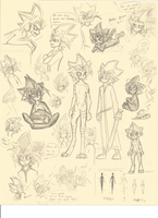 YuGiOh AU MC sketches. EnderYami HumanYugi by CoffeeAddictedDragon