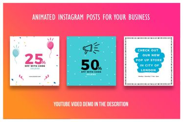 Animated Instagram Posts For Your Business by khaledzz9