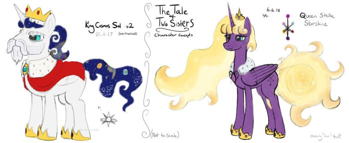 King and Queen Concepts (The Tale of Two Sisters) by UnderwoodART