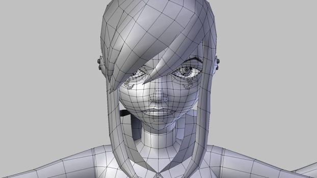 charmcaster enchantress w.i.p wireframe face by KoriiNee