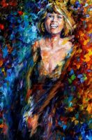 Whitney Houston by Leonid Afremov by Leonidafremov
