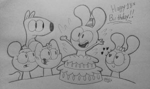 Happy 18th Birthday, cartoonlover98! by MisterSomeone12