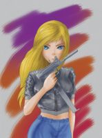 Aya Brea-Parasite Eve by clarence-mcgraw