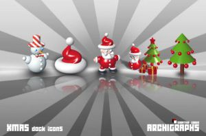 Archigraphs Xmas Dock Icons by Cyberella74