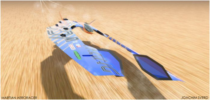 Martian Aeroracer Speed2 by Scifiwarships