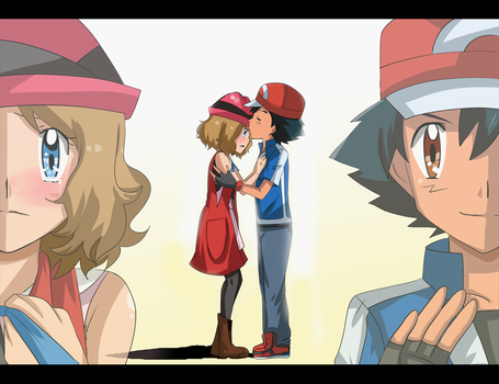 amourshipping goodbye by hikariangelove