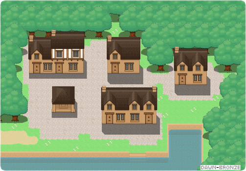 First Town by Dawn-Bronze