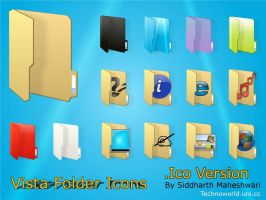 Vista Folder Icons - .Ico ver. by SiddharthMaheshwari