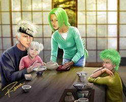 kakashi family commission by RamaChan