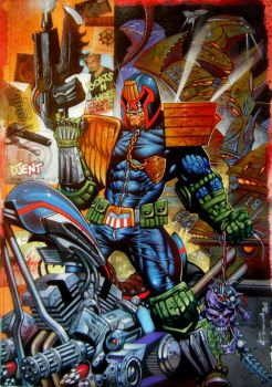 Heavy Metal Dredd -Judge Dredd by LOGANNINEFINGERS