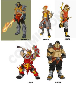 Dinobots as Humans by JazylH