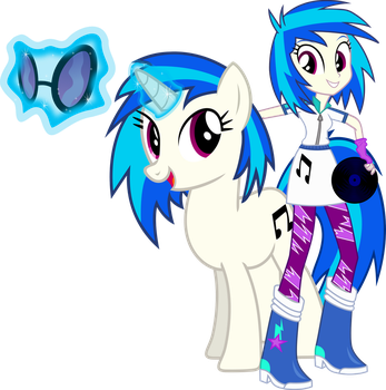 Vinyl Scratch and Vinyl Scratch by Vector-Brony