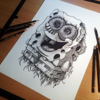 Sponge bob drawing by AtomiccircuS