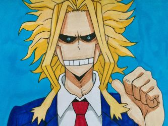 All Might by ShrimpChipSensei