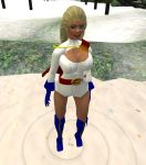 Power Girl in Quicksand by kaolumbia