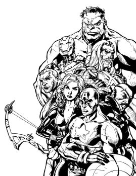 The Avengers by DHinking
