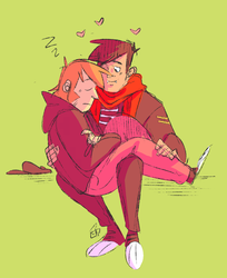 how about: 16 candles peterick cuddling by misteratomicbomb