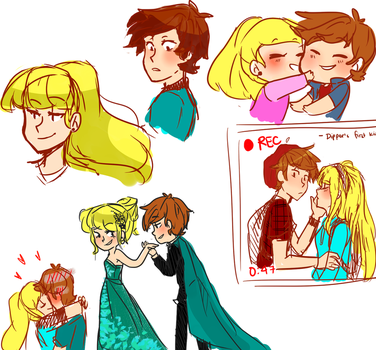 Old Dipcifica  doodles by riamarie33