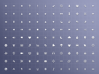 Free 128 x 16 x 16 Icon Set by mayack