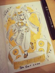 INKTOBER Day 18: Music Witch - CHIARA by Drawing-Heart
