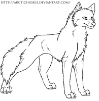 Free Dog lineart 6 by ArcticHuskie