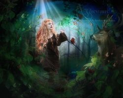 The girl lost in forest by annemaria48
