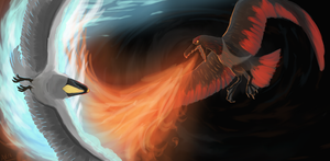 Epic Clash of The Elements by dragon-master-13