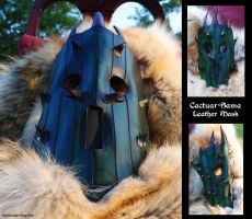Leather Cactuar-Sama Mask by Epic-Leather