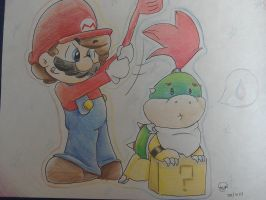 Commish: Mario and Bowser Jr by SilvaLucyStar