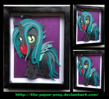 Shadowbox: Filly Chrysalis by The-Paper-Pony