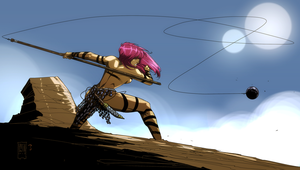 Warrior Woman by PatBoutin - Colors by JP by Dualmask