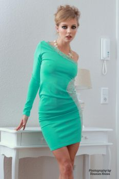Anna in the green dress 8 by PhotographyThomasKru