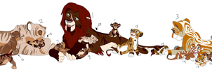 [Open] Lion Pride Adopts by Pants-Adopts