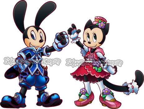 KH:HOD Oswald and Ortensia by Sakuyamon