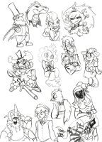 Circus sketch dump by kbird1994