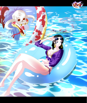 Cover- Hancock enjoying the pool by i-SANx