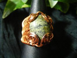 Russian Serpentine Wing Ring by BacktoEarthCreations