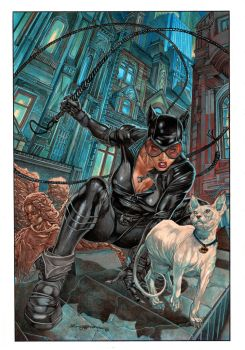 Catwoman_ painting by AllJeff