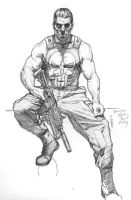 Punisher sketch study by Meador