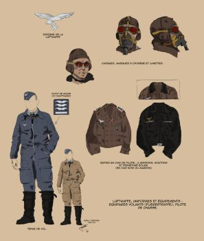 Luftwaffe pilot uniform by Fisher22