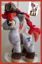 mlp plushie commission IRONFIRE by CINNAMON-STITCH