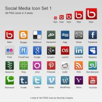 Free 28 Social Media Icons Set #1 by coloradodev