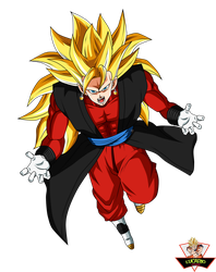 Super Vegetto Xeno SSJ3 SDBH by lucario-strike