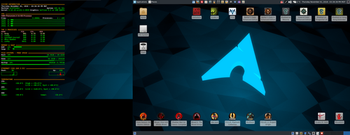 November 2018 Desktop - Arch Linux and Xfce by hamishpaulwilson