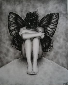 Sad Butterfly Girl by Zindy