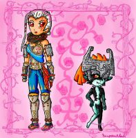 impa and midna by ninpeachlover
