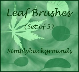 Leaf Brushes Set 1 by SimplyBackgrounds